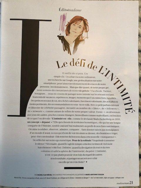 L'édito du Madame Figaro – Le défi de l'intimité